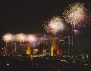 Fireworks over Houston, Texas